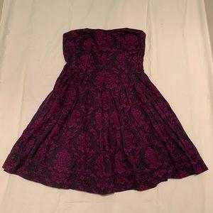 F21 purple mini strapless A-line dress